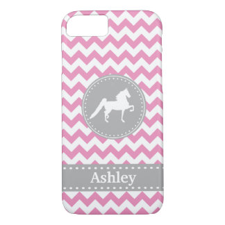 Caso rosado adaptable del iPhone 7 de Saddlebred Funda iPhone 7