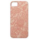 Caso rosado bonito del iPhone 5 de Paisley iPhone 5 Cobertura