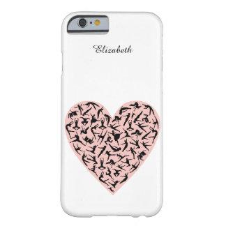 Caso rosado bonito del iPhone 6 del corazón de la Funda Para iPhone 6 Barely There