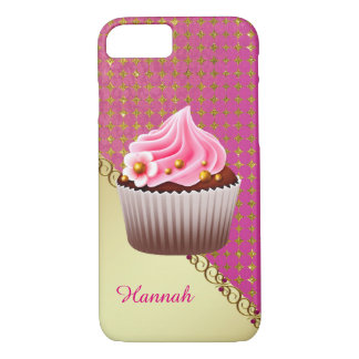 Caso rosado bonito del personalizado 7 de la funda iPhone 7