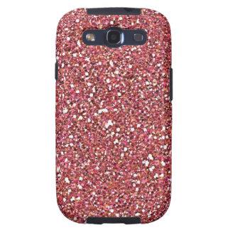 Caso rosado brillante del ambiente de la galaxia d galaxy s3 fundas