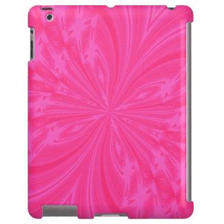 CASO rosado brillante del iPAD de la mariposa