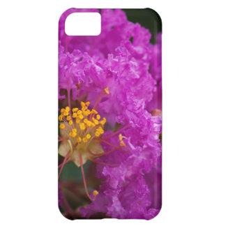 Caso rosado brillante del iPhone 5 de la floración Funda Para iPhone 5C