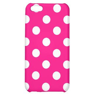Caso rosado brillante del iPhone del lunar