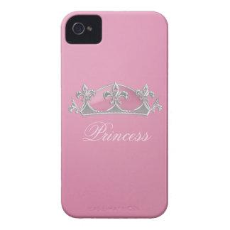 Caso rosado chispeante del iPhone 4 de princesa Cr iPhone 4 Case-Mate Cobertura
