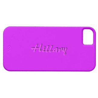 Caso rosado completo del iPhone 5 de Hillary iPhone 5 Funda