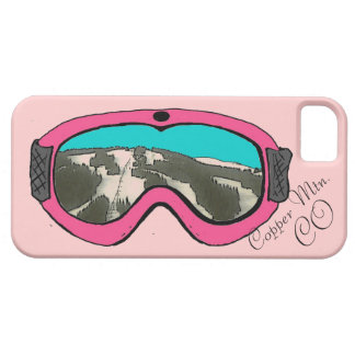 Caso rosado de cobre del iphone 5 del arte de las iPhone 5 fundas