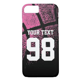 Caso rosado de encargo del iPhone del número del Funda iPhone 7