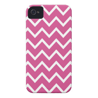 Caso rosado de Flambe Chevron Iphone 4S iPhone 4 Fundas