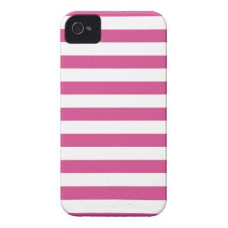 Caso rosado de Flambe Iphone 4/4S de las rayas iPhone 4 Fundas