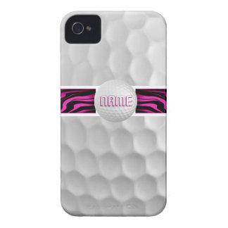Caso rosado de Iphone 4 de la pelota de golf del Case-Mate iPhone 4 Cobertura