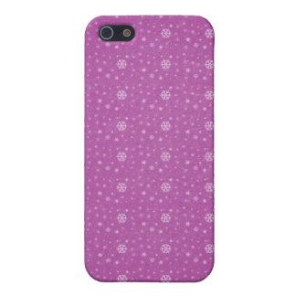 Caso rosado de Iphone 4G de los copos de nieve iPhone 5 Carcasas