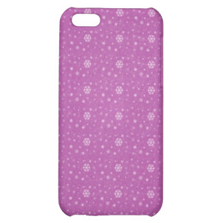 Caso rosado de Iphone 4G de los copos de nieve