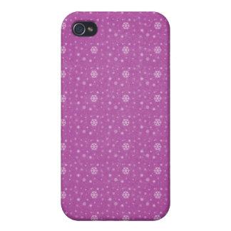 Caso rosado de Iphone 4G de los copos de nieve iPhone 4/4S Funda