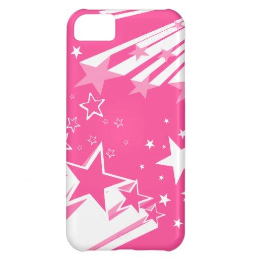 Caso rosado de Iphone de la estrella