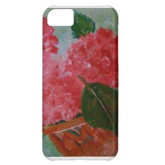 Caso rosado de IPhone de los geranios Funda Para iPhone 5C