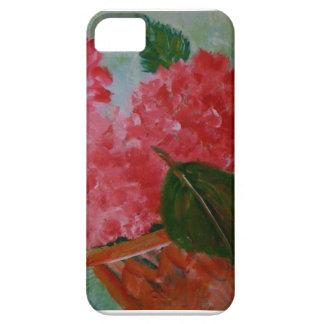 Caso rosado de IPhone de los geranios iPhone 5 Fundas