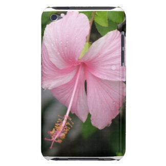 Caso rosado de iTouch del hibisco Barely There iPod Protector