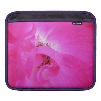 Caso rosado de la floración de la flor funda para iPads