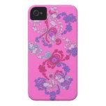 Caso rosado de la identificación de los espirales  iPhone 4 Case-Mate cárcasa