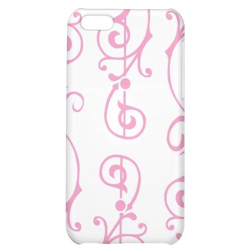 Caso (rosado) de marfil del iPhone de la fibrilla