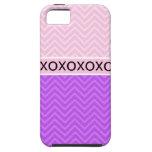 Caso rosado de moda del iPhone 5 de la moda XOXO C iPhone 5 Case-Mate Protectores