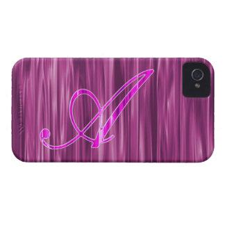 Caso rosado del adorno de la escritura del iPhone 4 Case-Mate protectores