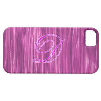 Caso rosado del adorno de la escritura del iPhone 5 protector