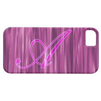 Caso rosado del adorno de la escritura del iPhone 5 cárcasas