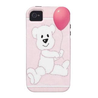 Caso rosado del ambiente 4S del iPhone 4 de Cub de Case-Mate iPhone 4 Funda