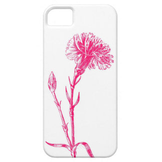 Caso rosado del ejemplo del clavel iPhone 5 Case-Mate cárcasas