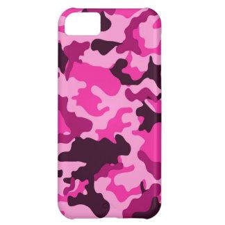 Caso rosado del iPad 5 de Camo Funda Para iPhone 5C