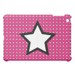 Caso rosado del iPad de la estrella