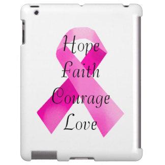 Caso rosado del iPad de la fe de la cinta Funda Para iPad