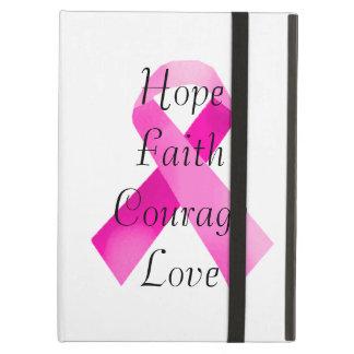 Caso rosado del iPad de la fe de la cinta