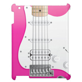 Caso rosado del iPad de la guitarra eléctrica