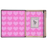 caso rosado del iPad de los corazones iPad Cobertura