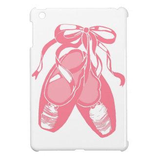 Caso rosado del iPad de los zapatos de ballet