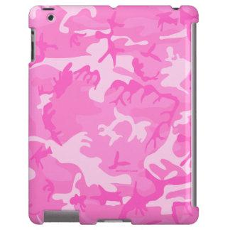 Caso rosado del iPad del camuflaje