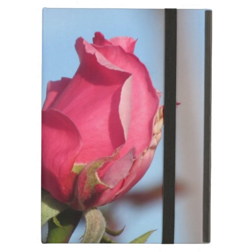 Caso rosado del iPad del capullo de rosa