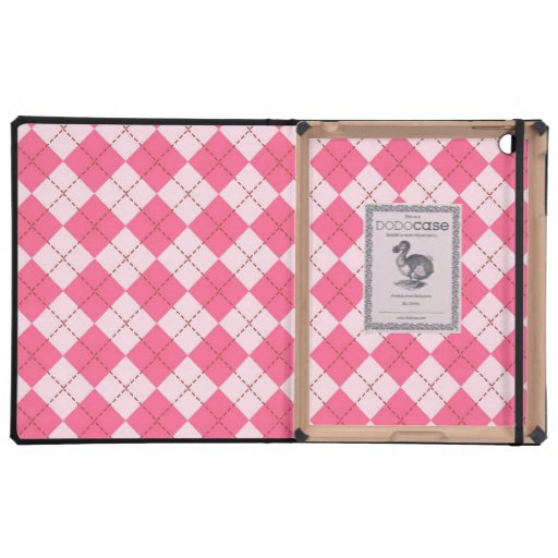 Caso rosado del iPad del DODO de Argyle iPad Cárcasas