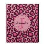 Caso rosado del iPad del leopardo