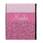 Caso rosado del iPad del leopardo BLING del