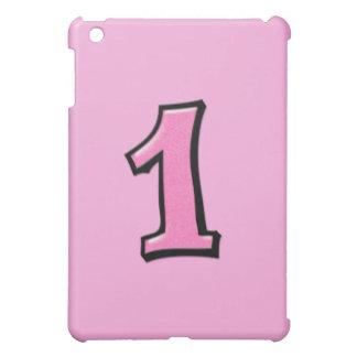 Caso rosado del iPad del número 1 tonto