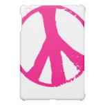 caso rosado del ipad del signo de la paz