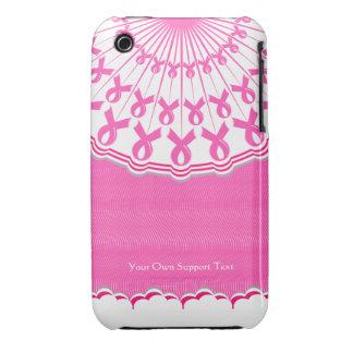 Caso rosado del iPhone 3 de la ayuda del cáncer de Case-Mate iPhone 3 Protector