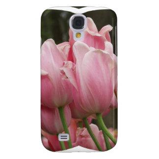 Caso rosado del iPhone 3G de los tulipanes