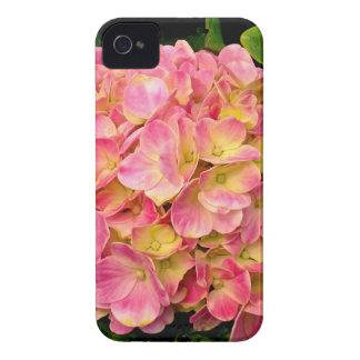 Caso rosado del iPhone 4/4s del Hydrangea iPhone 4 Funda