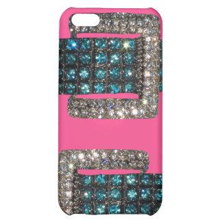 Caso rosado del iPhone 4 de Bling del arte de los