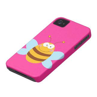 Caso rosado del iPhone 4 de la abeja